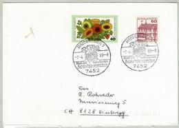 Deutsche Bundespost 1989, Brief Haigerloch - Hinteregg (Schweiz), Schloss-Kirche, Château, Castle - Castles