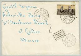 Italien / Italia 1960, Retournierter Brief Pistoia - Flawil, Botsberg, Therme Caracalla - Termalismo