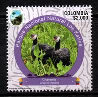 A904I - KOLUMBIEN - 2020- MNH- BIRD CHAVARRIA - CHAUNA CHAVARIA - NATURAL PARKS- VII ISSUE - Colombia