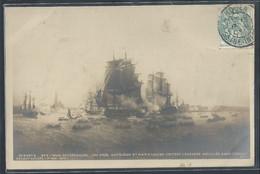 CARTE PHOTO BATEAUX - Napoléon Et Marie-Louise Visitent L'escadre Mouillée Dans L'Escaut Devant Anvers - Other