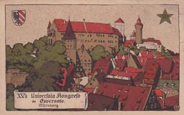 XVª UNIVERFALA KONGRESO DE ESPERANTO, NURNBERG 1923. CARTE POSTALE CIRCULEE A ARGENTINE.- LILHU - Esperanto
