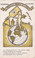 XVª UNIVERSALA KONGRESO DE ESPERANTO, NURNBERG 1923. CARTE POSTALE CIRCULEE A ARGENTINE.- LILHU - Esperanto