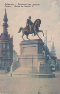 ECRIT EN ESPERANTO. BELGIQUE, ANVERS, STATUE DE LEOPOLD. CARTE POSTALE CIRCULEE ANNEE 1919, A ARGENTINE.- LILHU - Esperanto