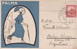 "PER ESPERANTO KAJ PER ""PALMA"". CARTE POSTALE CIRCULEE ANNEE 1930, NAGYMAROS A ARGENTINE.- LILHU - Esperanto"