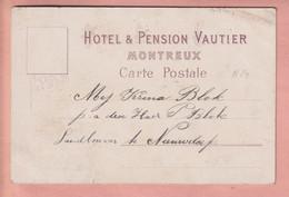 OUDE POSTKAART - ZWITSERLAND -    MONTREUX - HOTEL PENSION VAUTIER - CARTE PRIVE - VD Vaud