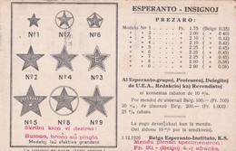 ESPERANTO INSIGNOJ, BELGA ESPERANTO-INSTITUTO. CARTE POSTALE CIRCULEE ANNEE 1926 ANTWEPPEN A ARGENTINE.- LILHU - Esperanto