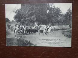 """Carte Assez Rare De 1912 , Coutumes Et Courses De Taureaux à La """" Provençale """" """""""" Carte Animée """""""" - Other Municipalities"""