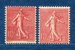 ⭐ France - Variété - YT N° 129 - Couleurs - Pétouilles - Neuf Sans Charnière - 1903 ⭐ - Varietà: 1900-20 Nuovi