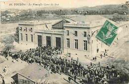 83 - Toulon - La Nouvelle Gare Du Sud - Animée - CPA - Voir Scans Recto-Verso - Toulon