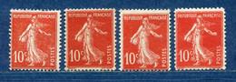 ⭐ France - Variété - YT N° 138 - Couleurs - Pétouilles - Neuf Sans Charnière - 1906 ⭐ - Varietà: 1900-20 Nuovi