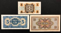 Slovenije Slovenia  1 5 10 Lir Pressate Pressed Bb/spl LOTTO 458 - Slovenia