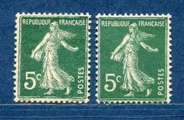 ⭐ France - Variété - YT N° 137 - Couleurs - Pétouilles - Neuf Sans Charnière - 1906 ⭐ - Varietà: 1900-20 Nuovi