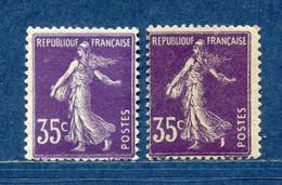 ⭐ France - Variété - YT N° 142 - Couleurs - Pétouilles - Neuf Avec Charnière - 1906 ⭐ - Varietà: 1900-20 Nuovi
