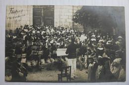 Cpa Carte Photo Musiciens Militaires Frasnes Manoeuvre 1910 - VRA02 - Frasnes-lez-Anvaing