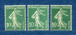 ⭐ France - Variété - YT N° 159 - Couleurs - Pétouilles - Neuf Sans Et Avec Charnière - 1921 ⭐ - Varietà: 1921-30 Nuovi