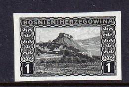 BOSNIA AND HERZEGOVINA  -  1906 1h Imperf Hinged Mint - Bosnia Herzegovina