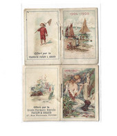 CALENDRIER DE POCHE - NBR 2 1904 1905 - 1906 1907 De Mai A Avril Pharmacie Paulin & Giraud 37 Tours  ( 6,7 X  4,50 ) - Petit Format : 1901-20