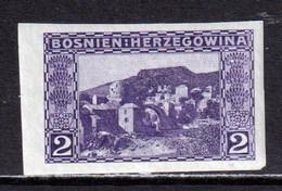 BOSNIA AND HERZEGOVINA  -  1906 2h Imperf Hinged Mint - Bosnia Herzegovina