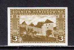 BOSNIA AND HERZEGOVINA  -  1906 3h Imperf Hinged Mint - Bosnia Herzegovina