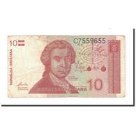 Billet, Croatie, 10 Dinara, 1991, 1991-10-08, KM:18a, B - Croatia
