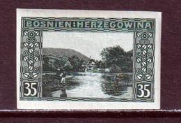 BOSNIA AND HERZEGOVINA  -  1906 35h Imperf Hinged Mint - Bosnia Herzegovina