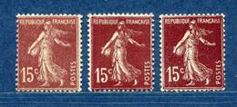 ⭐ France - Variété - YT N° 189 - Couleurs - Pétouilles - Neuf Sans Charnière - 1924 ⭐ - Abarten: 1921-30 Ungebraucht
