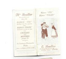 CALENDRIER DE POCHE - 1911 E BOULLIER Paris Bijoux Fix Et Toled ( 9,2 X 4,5 ) - Petit Format : 1901-20