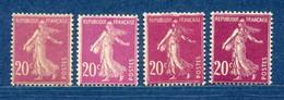 ⭐ France - Variété - YT N° 190 - Couleurs - Pétouilles - Neuf Sans Charnière - 1924 ⭐ - Abarten: 1921-30 Ungebraucht