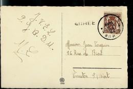 Carte Fantaisie; Obl. NAMUR  - 1 J - 1939 + Griffe De ANHEE - Linear Postmarks