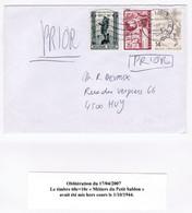 Curiosité, COB 618/1944 Sur Lettre De 2007, Superbe - Curiosités