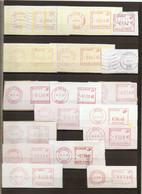 Belgique - Petit Lot De 17 Vignettes D'affranchissement De Guichet - Bertrix - Yon - De Haan - Geel - Meise - Heusden... - Automatenmarken (ATM)