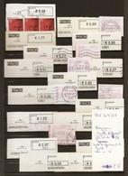 Belgique - Petit Lot De 21 Vignettes D'affranchissement De Guichet - Tienen - Koekelberg - St Niklaas - Oudenaarde .... - Automatenmarken (ATM)