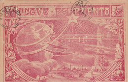 LINGVO ESPERANTO. CARTE POSTALE CIRCULEE ANNEE 1918. MONTEVIDEO, URUGUAY A BAHIA BLANCA, ARGENTINE.- LILHU - Esperanto