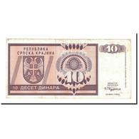 Billet, Croatie, 10 Dinara, 1992, KM:R1a, TTB - Croatia