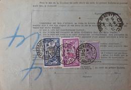 R1311/521 - BULLETIN D'EXPEDITION - STRASBOURG à BORDEAUX / 29 NOV. 1927 - Cartas