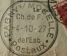R1311/523 - BULLETIN D'EXPEDITION - PHALSBOURG (Moselle) à LONGWY (Meurthe Et Moselle) / 3 NOV. 1927 - Cartas