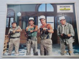 PHOTO D' EXPLOITATION 40 X 30 - LES MORFALOUS - BELMONDO ET SES COMPERES - FILM DE HENRI VERNEUIL 1984 - Fotos