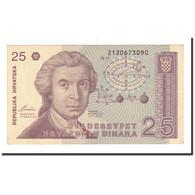 Billet, Croatie, 25 Dinara, 1991, 1991-10-08, KM:19a, TTB+ - Croatia