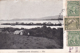 ESPERANTO. ECUADOR, ESMERALDAS RIO. CARTE POSTALE CIRCULEE AN 1923, ECUADOR A ARGENTINE.- LILHU - Esperanto