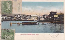 ECRIT EN ESPERANTO. HAITI, VUE DU QUAI, PORT-AU-PRINCE. CARTE POSTALE CIRCULEE AN 1923, A ARGENTINE.- LILHU - Esperanto