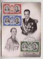 19 Aprile 1956 Principe Ranieri E Grace Kelly  - Cartolina  18-19 Avril 1956  -  (757) - Other Famous People