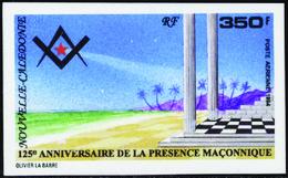 Nouvelle Calédonie Non Dentelés Poste Aérienne N°324 350f Présence Maçonnique  Qualité:** - Imperforates, Proofs & Errors