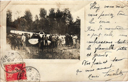 Aviation - Aéroplane - Carte-photo Postée à Wassy En 1912 - Other Municipalities