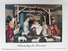 Christmas Crib  / Krippe  / Polish Postcard / Wronki Church - Zonder Classificatie