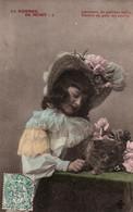"""CPA - FANTAISIE - Jeune Fille Et Un Chat """"Le Sommet De Minet"""" ...Edition CCCC - Portraits"""