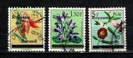 Burundi 1962 - 1, 4/5  Bloemen / Fleurs  Used - 1962-69: Usati