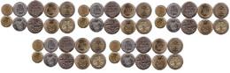 Colombia - 5 Pcs X Set 5 Coins 20 50 100 200 500 Pesos 1994 - 2010 UNC Lemberg-Zp - Colombia