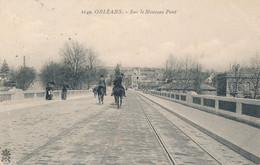 Orléans (45 Loiret) Sur Le Nouveau Pont - Chevaux Sur La Ligne De Tramway - édit. Marron N° 1149 Circulée 1908 - Orleans