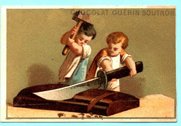 RARE Chromo Chocolat Guérin-Boutron. Enfants Avec Des Friandises. La Tablette De Chocolat. Imp. Appel 3-1-25/1. - Guérin-Boutron