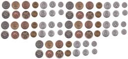 Nepal - 5 Pcs X Set 7 Coins 10 25 50 Paise 1 2 5 10 Rupees 1994 - 2009 AUNC / UNC Lemberg-Zp - Nepal
